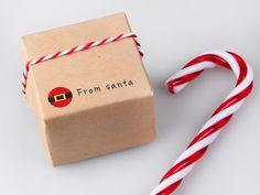 [바보사랑] 산타의 선물! 크리스마스/크리스마스데코/크리스마스선물/선물/데코/디자인/포장/크리스마스/사탕/산타클로스/스트라이프