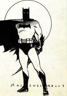 Batman by David Mazzucchelli.