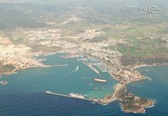 Ibiza Town from the sky.....