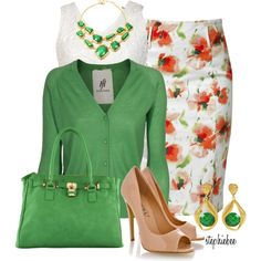 Untitled #755 by stephiebees on Polyvore Oh I want it all I am in love with the Green!