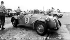 Winner of the first 12 hrs race (1952) - #9 Frazer Nash LM Replica. Covered 1213 kms (145 laps).