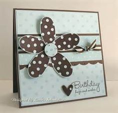 homemade cards - could do in any color. Could also do balloon, star, cake.  Like this simple clean card.