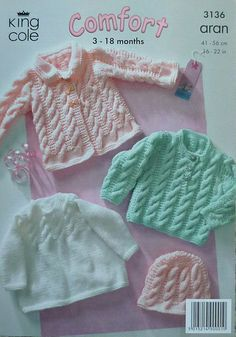 Baby Knitting Patterns Baby stricken Muster Babys Fell Jumper Hat Kabel im. Baby Knitting Patterns, Baby Sweater Patterns, Baby Cardigan Knitting Pattern, Knitting For Kids, Baby Patterns, Knitted Baby Clothes, Knitted Hats, Baby Pullover Muster, Baby Coat