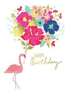Charlotte Pepper - Birthday-flamingo-bouquet