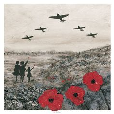 Professionally produced high quality print on textured brilliant white Zetamatt linen textured board Title: For The Few Artist: Jacqueline Hurley Collection: The War Poppy Collection © 2016 Jacqueline Hurley - Port Out, Starboard Home POSH® Original Art Remembrance Day Art, Remembrance Day Drawings, Ww1 Art, Original Paintings, Original Art, Anzac Day, Lady Diana, Military Art, World War Two