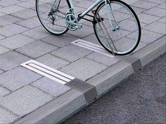 Una solución práctica y sencilla para aparcar bicicletas en la calle.