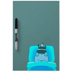 Blue Monster In Bed Sleeping Dry-Erase Whiteboards