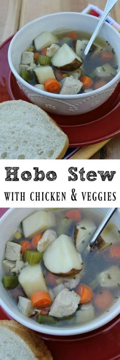 Recipe for Hobo Stew with Chicken & Veggies with Swanson Chicken Broth. Step by step instructions, plus awesome giveaway Hearty Soup Recipes, Easy Healthy Recipes, Fall Recipes, Hobo Stew, Recipe Today, Recipe Collection, Kids Meals, Veggies, Dishes