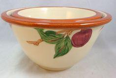 """Vintage 1949-53 Franciscan Apple Nesting Bowls 8 7/8"""" & 7 3/8""""-Mint"""