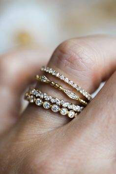 Looking for the perfect match...for your engagement ring? We have a huge variety of diamond bands including different stone shapes and diamond clusters!