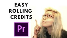 Quick Rolling Credits in Premiere Pro Tutorial