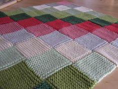 Pattern: Garter Stitch Baby Blanket in Baby Knits for Beginner's, by Debbie Bliss