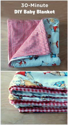 Send yourself to snuggle city with this 30-Minute DIY Baby Blanket! You can use this blanket as a gender-neutral shower gift or keep it for your own household. Once it's complete, pair this simple homemade craft with your favorite chair and a cup of cocoa for the perfect night in—that is, if you can convince your kiddos to sit still for an entire movie.
