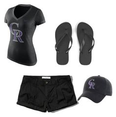 """Rockies baseball"" by sami-cardinals on Polyvore featuring NIKE, Abercrombie & Fitch and Havaianas"