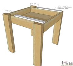 Build an easy kids table and chair set with a sliding top to store Legos. Free plans!