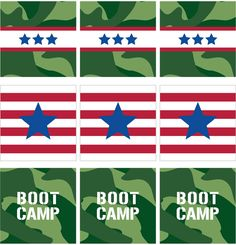 Boot Camp Party Camo Cupcake Toppers   Paging Supermom
