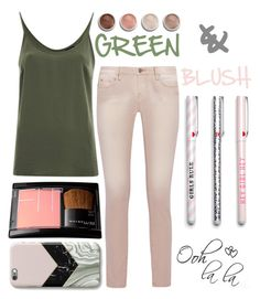 #Green&Blush by juromi on Polyvore featuring polyvore, fashion, style, VILA, IRO, Terre Mère, clothing, GREEN and blush