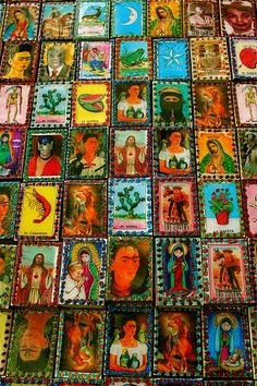 Folk art from Mexico. Matchbox covers.
