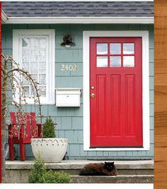 door, light, siding, colors...love it all