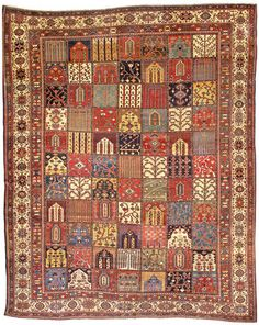 Perisan Bakhtiari rug, late 19th c