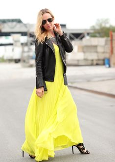 Dress: ASOS | Leather Jacket: Maje (similar here and here ) | Shoes: Brian Atwood (old) | Necklace: Dylanlex Frankie