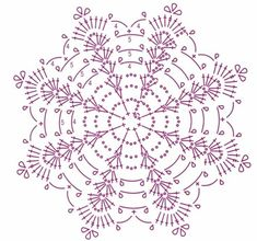 Crochet Pillow Patterns Part 11 - Beautiful Crochet Patterns and Knitting Patterns Crochet Snowflake Pattern, Crochet Pillow Pattern, Crochet Stars, Crochet Snowflakes, Crochet Flower Patterns, Crochet Diagram, Thread Crochet, Filet Crochet, Crochet Motif