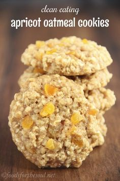 Clean-Eating Apricot Oatmeal Cookies -- these skinny cookies don't taste healthy at all! They're so soft & incredibly chewy. You'll never need another oatmeal cookie recipe again!