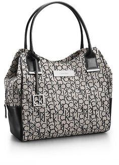 Calvin Klein Womens Logo Jacquard Center Zip Hobo Was: 119.50$ Now: 102.94$