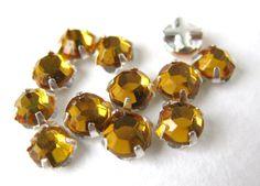 Vintage Rose Montees. Harvest gold Jewels
