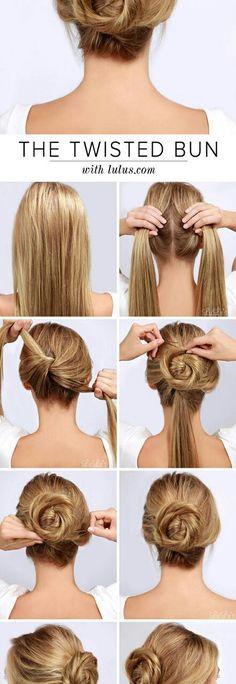 Bun – 16 Gorgeous Hair Styles for Lazy like Me … → Hair - Hair Styles Easy Bun Hairstyles, Braided Hairstyles For Wedding, Gorgeous Hairstyles, Hairstyles 2018, Trendy Hairstyles, Long Haircuts, Fall Hairstyles, Office Hairstyles, Everyday Hairstyles