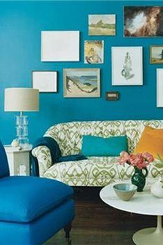 Picture collage- Love the color scheme