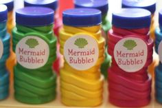 Bubbles at a Mermaid Party Favors #favors #mermaidparty
