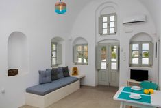 Entire home/apt in Oia, Greece. Spacious and very comfortable one bedroom apartment to host up to 3persons. Minimal interior design with a terrace overlooking the village of Finikia, the vineyards and the Aegean Sea. Feel the bohemian atmosphere of Finikia village. Enjoy Cosmopo...