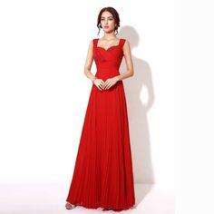Royal Blue Luxury Beaded Long Prom Dresses Criss-Cross Chiffon sweetheart Red Formal Dress Evening Gowns Vestidos De Noche TZ013