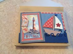 A2 Card Holder. Graphic 45 By the Sea.