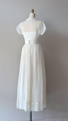 1940s wedding dress / vintage 40s dress / Tender by DearGolden