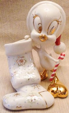 Lenox Tweety's Stocking Just For You Figurine Bird Warner Bros. Looney Tunes