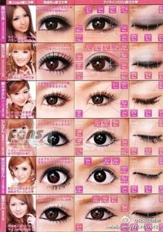 Japanese Eyes MakeUp  so different and pretty