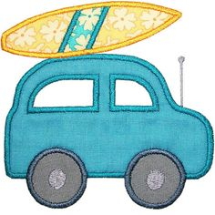 Going Surfing Car Applique Design