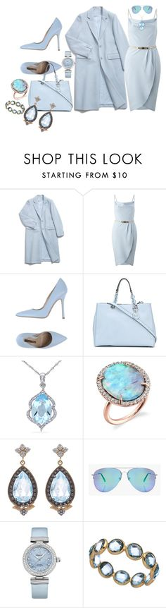 """Softly in Blue"" by blujay1126 ❤ liked on Polyvore featuring Miss Selfridge, Norma J.Baker, MICHAEL Michael Kors, Miadora, Irene Neuwirth, Sara Weinstock, Boohoo, OMEGA and Tresor"