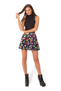 Fairy Lights Skater Skirt (WW 48HR $50AUD / US - LIMITED $45USD) by Black Milk Clothing