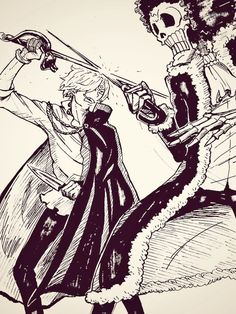 Sanji vs Brook