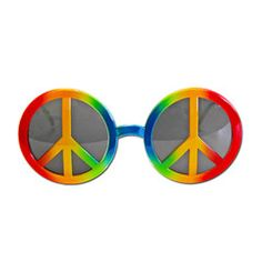 This pair of hippie style fancy dress glasses will be a great addition to your party outfit.