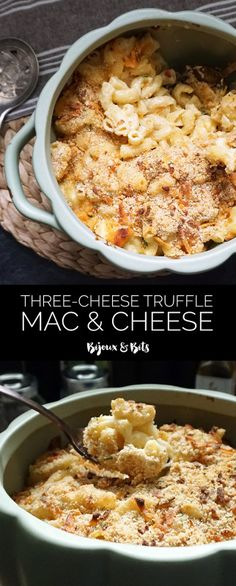 Three-cheese brown butter truffle mac and cheese recipe