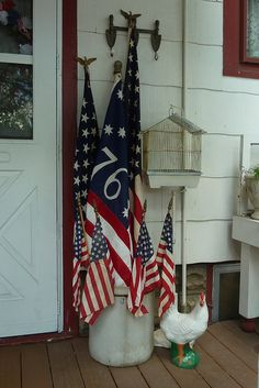 Our Patriotic Back Porch. I love this!