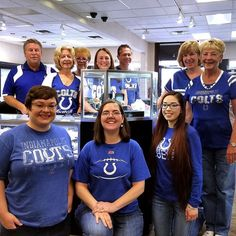 Let's go #Colts!  Today only- 20% off for anyone wearing their Colts gear! We're open until 5:00 and ready to rock and roll! #mcgeejewelers #indianapoliscolts