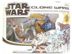star wars Clone wars season III 3 Cartoon network toys | Star Wars Clone Wars Commemorative DVD Collection Sith Attack 3 Pack ...