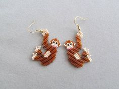 Chimpanzee Beaded Earrings
