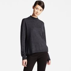 Women's Extra Fine Merino Wool High Neck Sweater