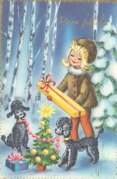 Poodles, the official dog of Christmas.